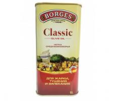 Масло оливковое BORGES Classic 100% ж/б, 1л.