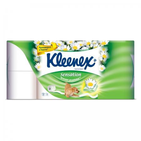 Туалетная бумага Kleenex ромашка (8 шт) - дополнительное фото