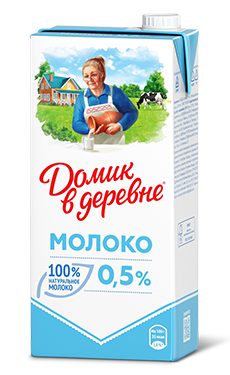 Молоко Домик в деревне 0,5% 950 мл (12 шт) - дополнительное фото