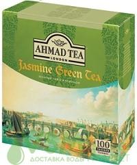 Аhmad зелёный с жасмином 100 пак (1 шт) - дополнительное фото