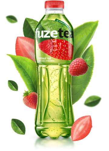 FUZE Tea Зеленый Клубника-Малина 1 л. (12 бут.) - дополнительное фото