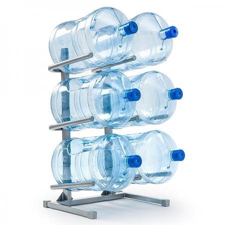 Подставка для 6-ти бутылей белая (Россия)  - дополнительное фото